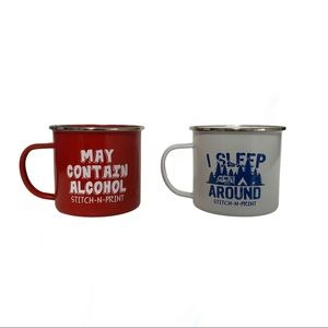 ❤️3/$30 Two metal camping mugs.